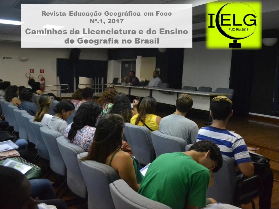 EGF nº1 Caminhos da Licenciatura e do Ensino da Geografia no Brasil